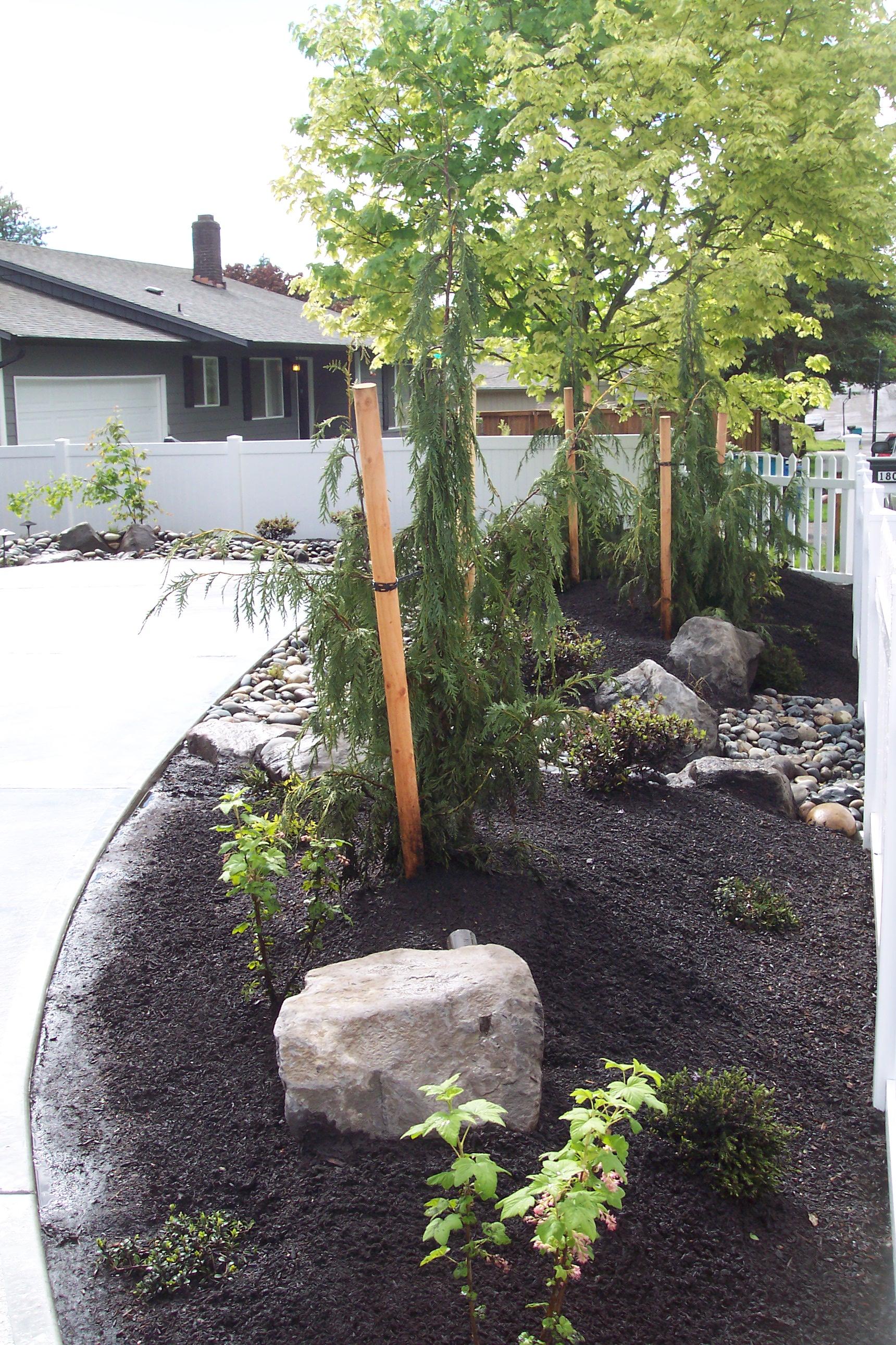 concrete pad landscaping