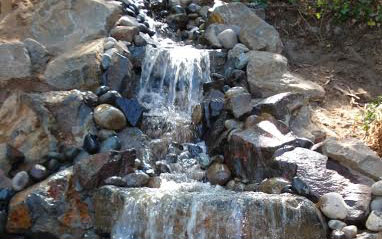 natural hardscapes water feature
