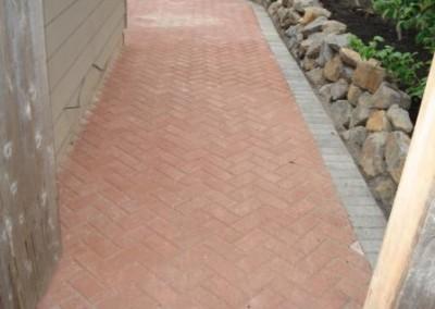 Frontier Landscaping brick walkway.