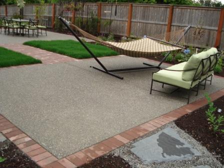 patio and hammock