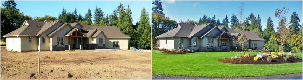 Before and After: 2016 Parade of Homes landscape frontierlandscaping.com Vancouver WA