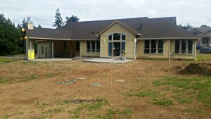 Parade of Homes Back Yard BEFORE soil prep ridgefield wa