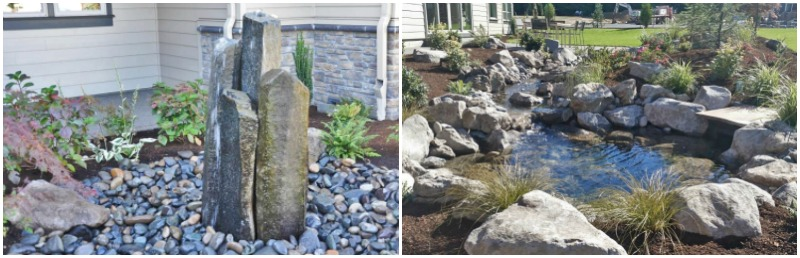 Natural hardscapes accent rockery boulders